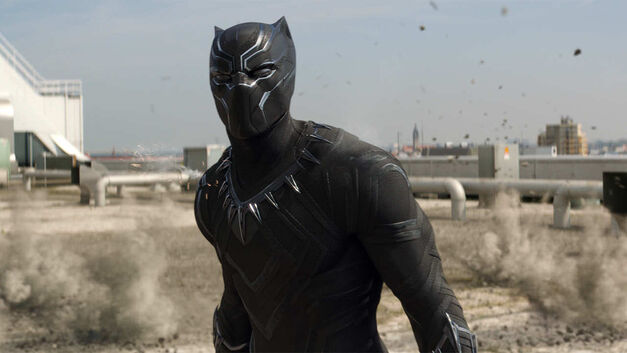 black-panther-superhero in costume