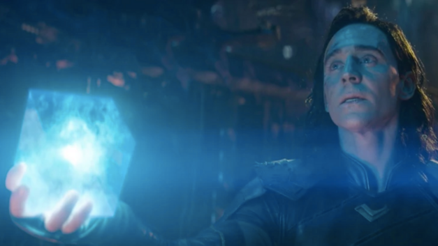 Loki gives the Tesseract to Thanos