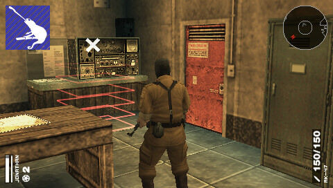 A screenshot of Metal Gear Solid: Portable Ops.