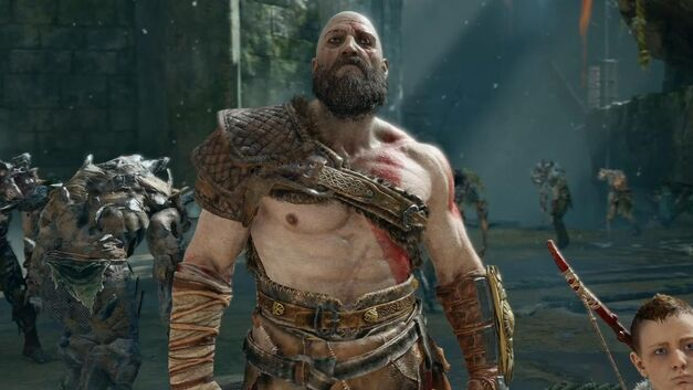 Kratos stands with his son Atreus