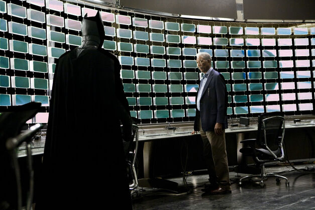 batman dark knight lucius fox sorry surveillance