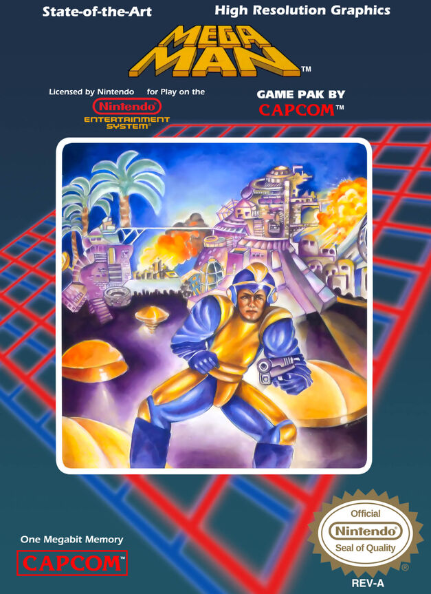 Mega Man 1 box art