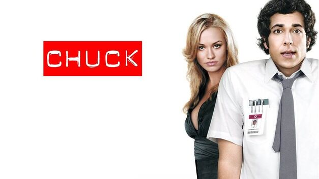 Zachary Levi plays Chuck Bartowski and sk jskj plays Sarah Walker