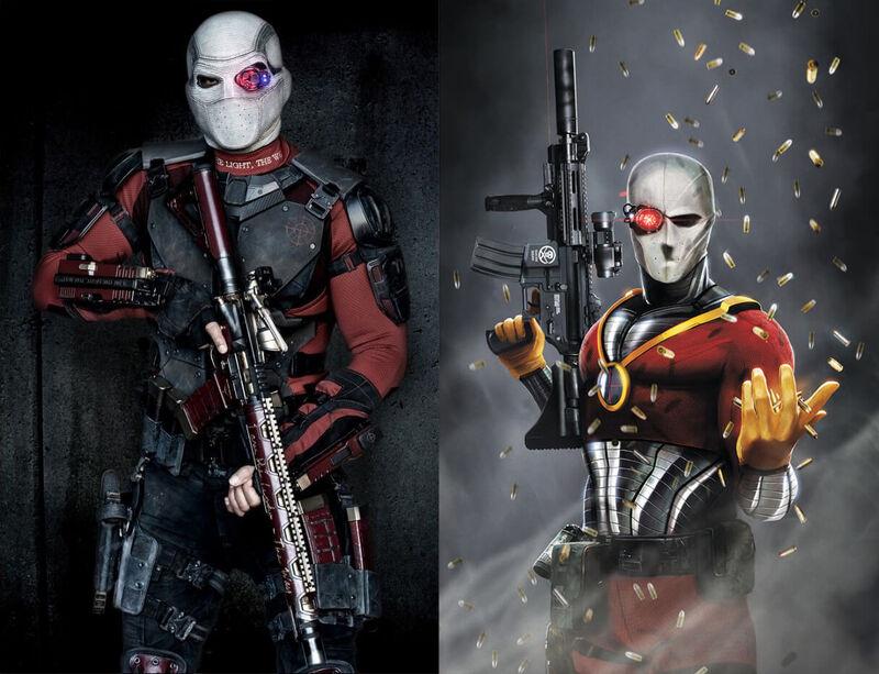 Deadshot Suicide Squad Comics Movie Comparison