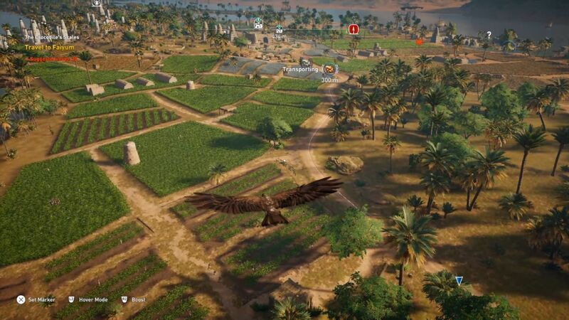 Assassin's Creed Origins Senu crafting hunting