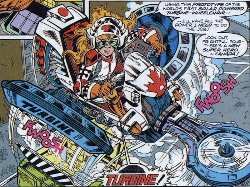 While American heroes were given massive high-tech guns in the 90s, Canada went with a big wheels.