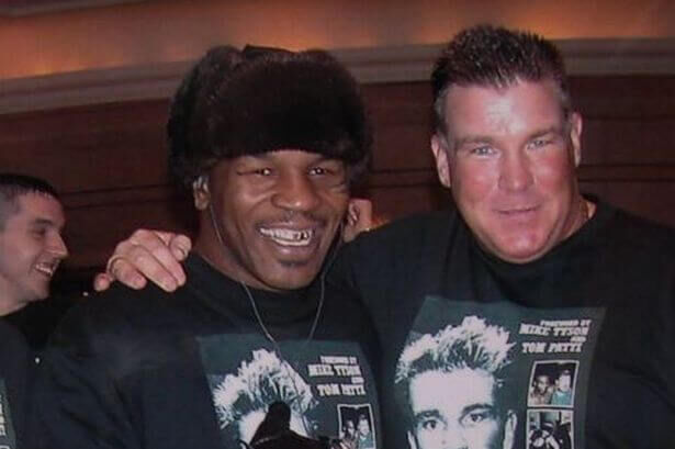 Joe Egan with Mike Tyson