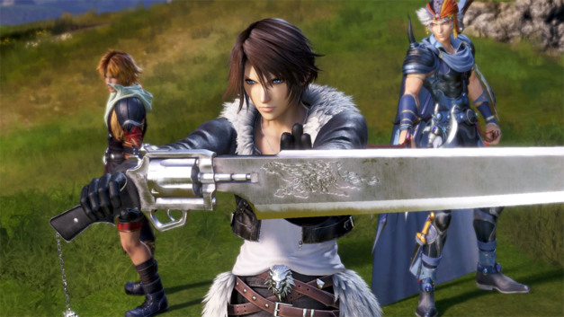 Squall, Tidus, and Firion ready for battle in DIssidia Final Fantasy NT