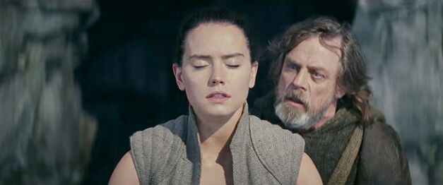 Luke Skywalker teaches Rey