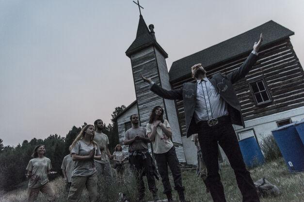 Greg Bryk Preaching as Joseph Seed in Far Cry 5 Short Film Inside Eden's Gate