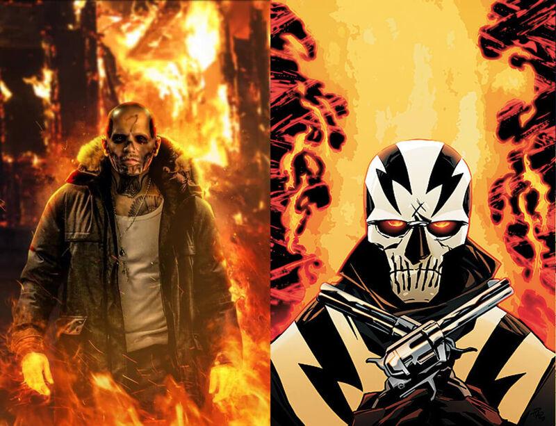 El Diablo Suicide Squad Comics Movie Comparison