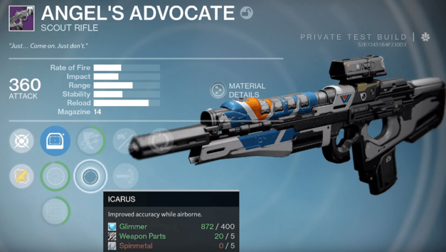 Destiny Rise of Iron new weapon Angel Advocate