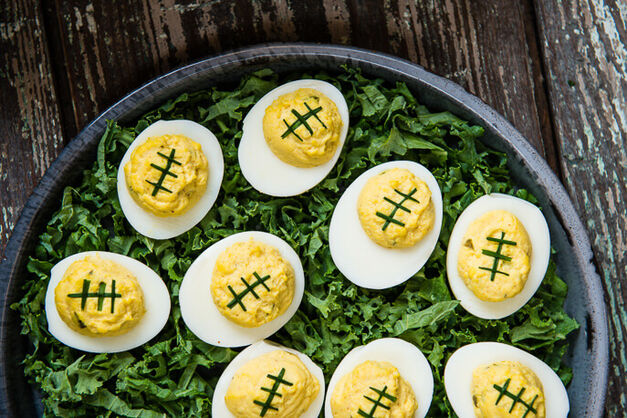 football-deviled-eggs