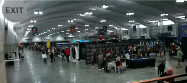 A wide angle view of the convention floor at the 2016 New York Star Trek Convention