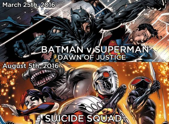 Comic Moviees DC 2016