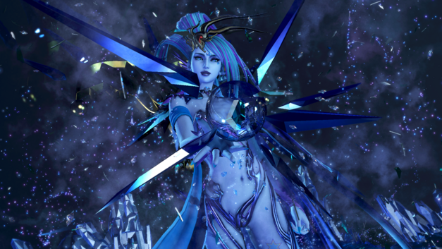 Summon Shiva in all her glory in DIssidia Final Fantasy NT