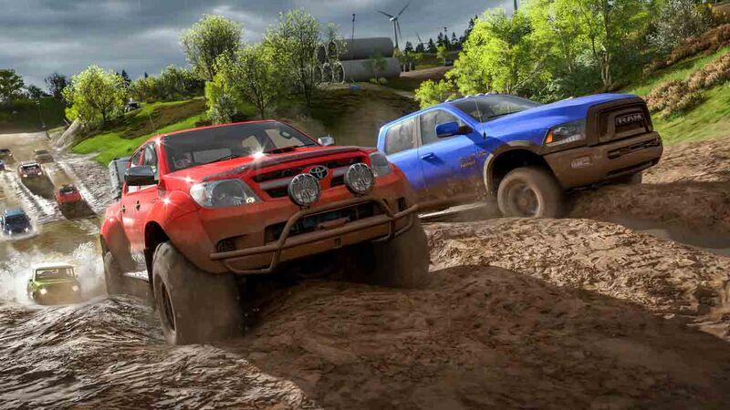 Muddy hill rainy weather Forza Horizon 4