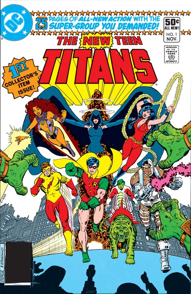 The New Teen Titans comic book cover