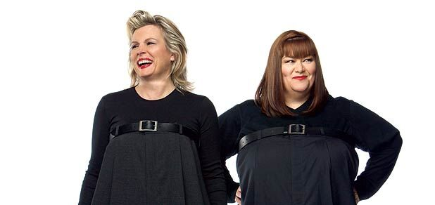 Famous British comedy duo, French and Saunders