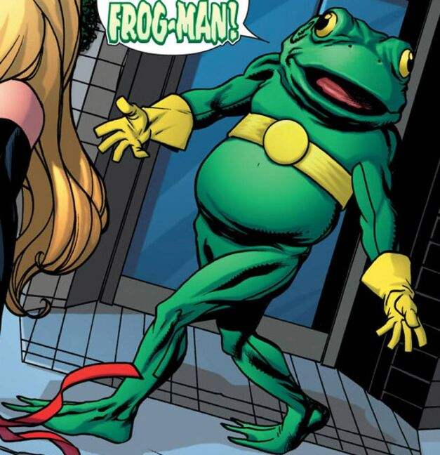 weird marvel frogman