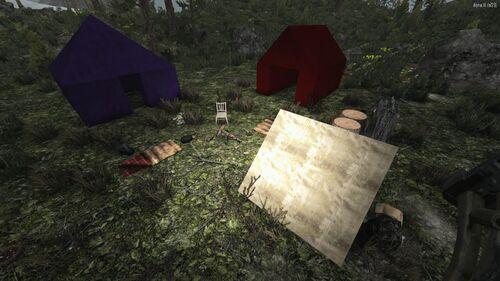 Палаточный лагерь (снежный биом)