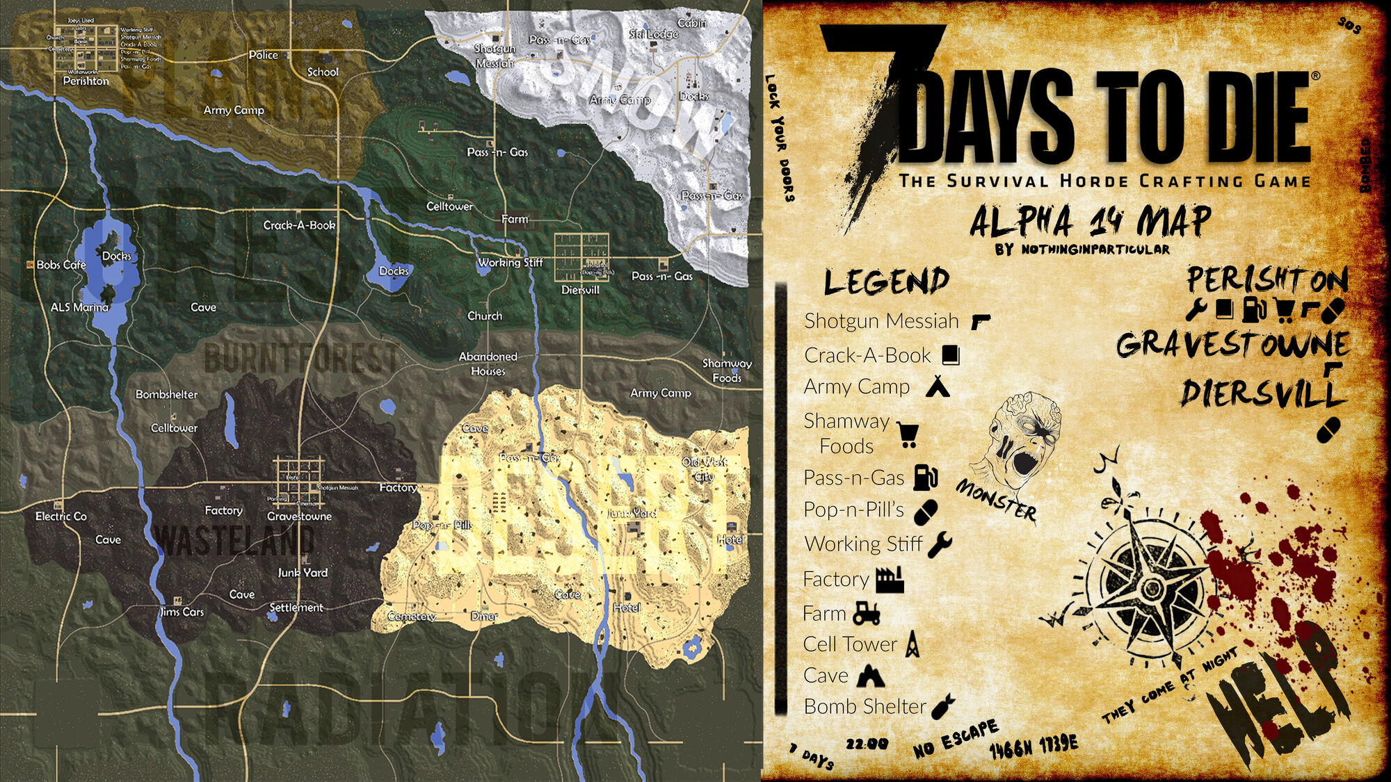 7 days to die ps4 locations