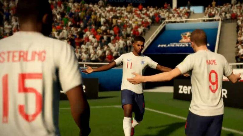 England team celebration Sterling Kane