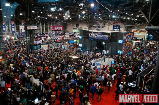 Marvels Booth On The Comic Con Show Floor