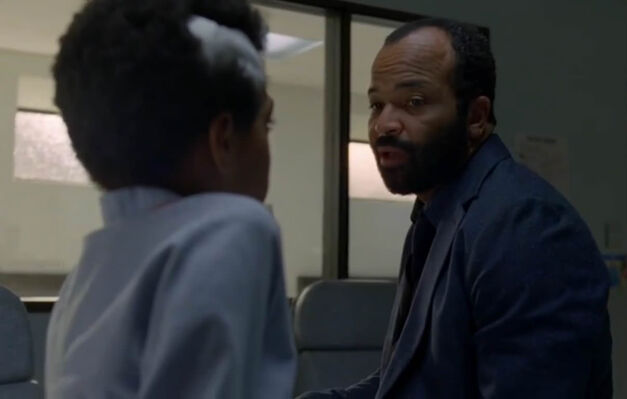 Westworld Bernard and charlie say bye in hospital room