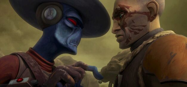 "Star Wars: The Clone Wars, ""Friends and Enemies"": Cad Bane and an undercover Obi-Wan Kenobi"