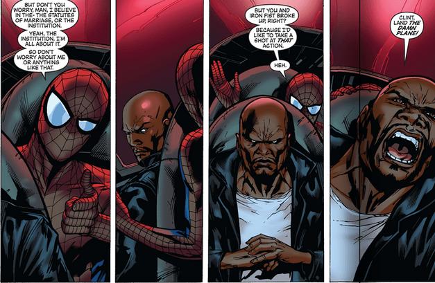 Spider-Man Luke Cage Avengers 002