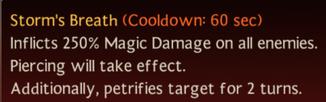 Storm's Breath skill