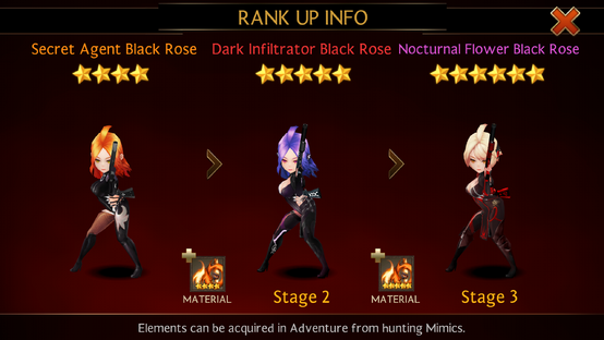 Black rose rank up