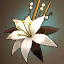 Lina's White Flower Hairpin