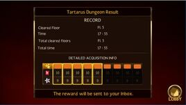 Tartarus Reward Info