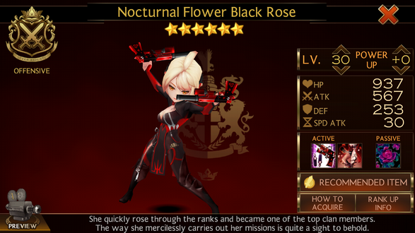 Black Rose action shot