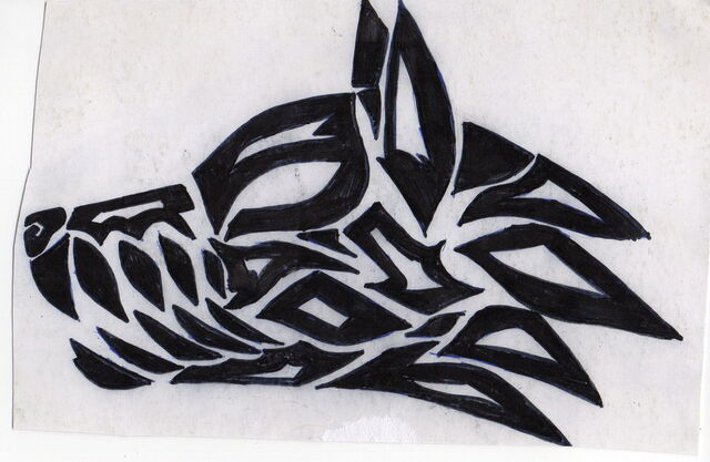 File:Tribal wolf head tattoo by erica2105-d4t8iys.jpg
