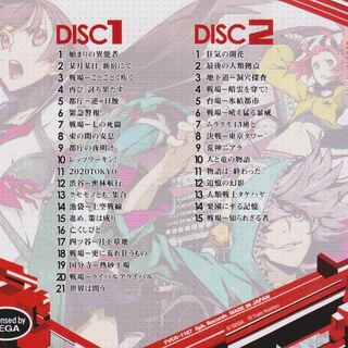 7th Dragon 2020 Original Soundtracks back cover