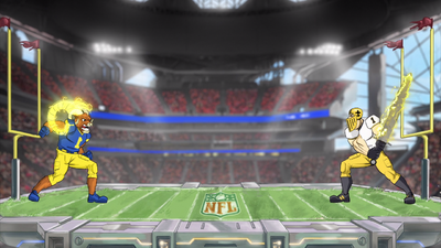 Watch the NFC Championship Mascots Get Ready to Smash in This Head-to-Head Match