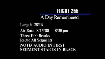 FILE VIDEO Flight 255 A Day Remembered