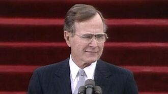 George H.W. Bush inaugural address. Jan. 20, 1989