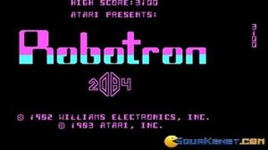 Robotron 2084 gameplay (PC Game, 1985)
