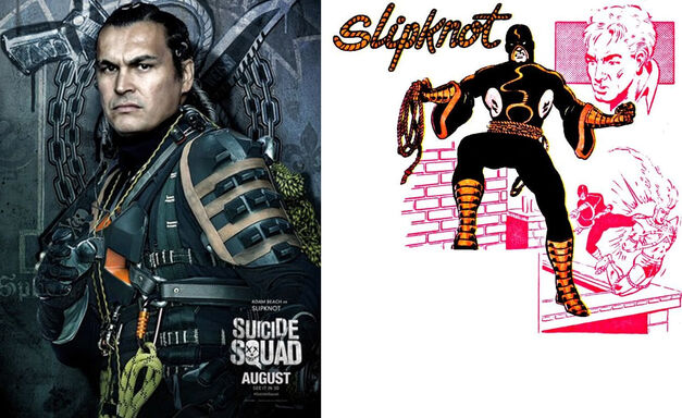 Slipknot Suicide Squad Comics Movie Comparison