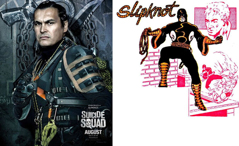 Slipknot Suicide Squad Comics Movie Comparison