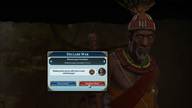 Declare an Early War in Civilization VI.