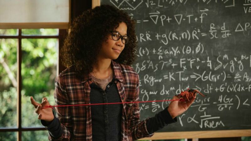Meg Murry holds a string up in Disney's A Wrinkle In Time Meg