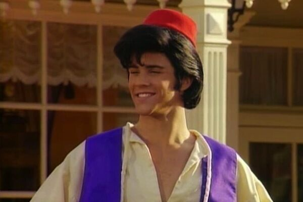 Here he is on Full House, playing Aladdin.