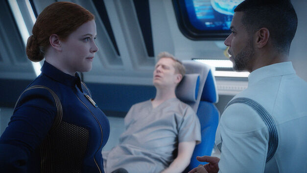 Despite Yourself Star Trek Discovery Tilly, Stamets and Culber.