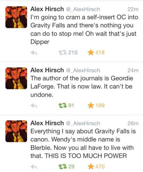 alex hirsch twitter gravity falls