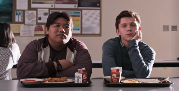 Ned and Peter in Spider-Man: Homecoming